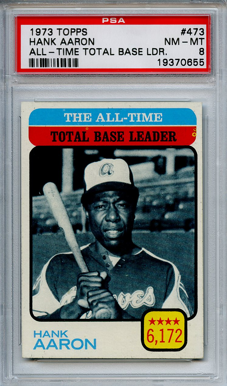 Lot Detail 1973 Topps 473 Hank Aaron All Time Total Base