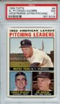 1964 Topps 4 AL Pitching Leaders Apostrophe After Pitching Ford PSA NM 7