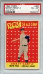 1958 Topps 487 Mickey Mantle All Star PSA NM-MT 8