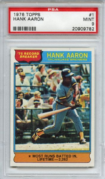 1976 Topps Aaron