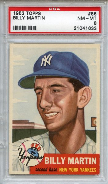 1953 Topps 86 Billy Martin PSA NM-MT 8