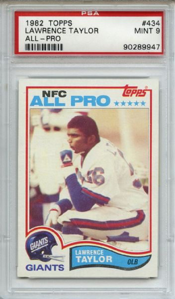 1982 Topps 434 Lawrence Taylor Rookie PSA MINT 9