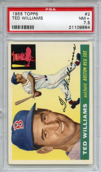 1955 Topps 2 Ted Williams PSA NM+ 7.5