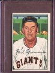 1952 Bowman 234 Fred Fitzsimmons CO EX #D52262