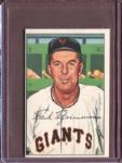 1952 Bowman 234 Fred Fitzsimmons CO EX #D52266