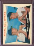 1960 Topps 160 Rival All-Stars Mickey Mantle/Ken Boyer EX #D5040