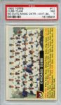 1956 Topps 11 Chicago Cubs Team White Back PSA NM 7