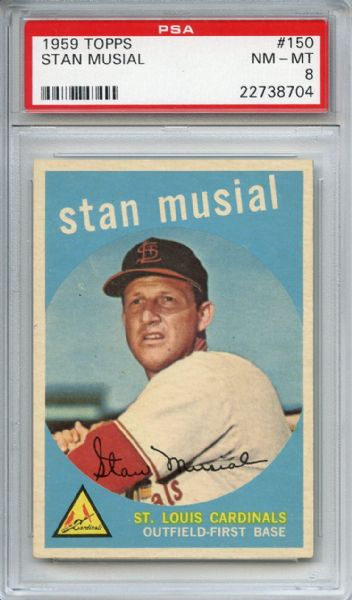1959 Topps 150 Stan Musial PSA NM-MT 8