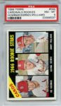 1966 Topps 544 St. Louis Cardinals Rookies PSA NM-MT 8
