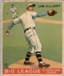 1933 Goudey 132 Jim Elliott RC VG #D254767