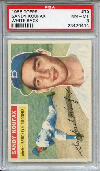 1956 Topps 79 Sandy Koufax PSA NM-MT 8