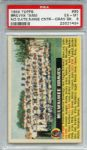 1956 Topps 95 Milwaukee Braves Team Gray Back PSA EX-MT 6