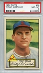 1952 Topps 38 Wally Westlake Red Back PSA NM-MT 8