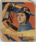 1933 National Chicle Sky Birds 6 Captain Albert Heurteaux POOR #D295517