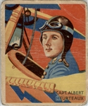 1933 National Chicle Sky Birds 6 Captain Albert Heurteaux POOR #D295521