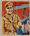 1933 National Chicle Sky Birds 17 Lt Douglass Campbell POOR #D295553