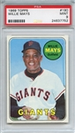 1969 Topps 190 Willie Mays PSA MINT 9