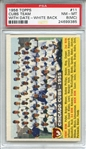 1956 Topps 11 Chicago Cubs Team Dated White Back PSA NM-MT 8 (MC)
