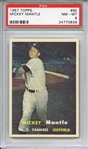 1957 Topps 95 Mickey Mantle PSA NM-MT 8