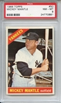 1966 Topps 50 Mickey Mantle PSA NM-MT 8