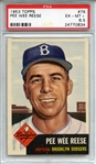1953 Topps 76 Pee Wee Reese PSA EX-MT+ 6.5