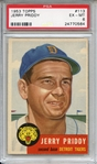 1953 Topps 113 Jerry Priddy PSA EX-MT 6