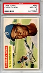 1956 Topps 299 Charley Neal PSA NM-MT 8