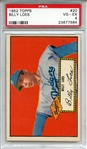 1952 Topps 20 Billy Loes Red Back PSA VG-EX 4