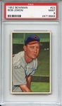 1952 Bowman 23 Bob Lemon PSA MINT 9
