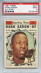 1961 Topps 577 Hank Aaron All Star PSA MINT 9