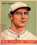 1933 Goudey 166 Sam West RC VG #D359490