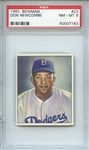 1950 Bowman 23 Don Newcombe RC PSA NM-MT 8
