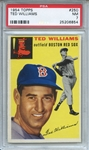 1954 Topps 250 Ted Williams PSA NM 7