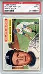 1956 Topps 8 Walter Alston RC White Back PSA MINT 9