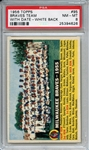 1956 Topps 95 Milwaukee Braves Team Dated White Back PSA NM-MT 8