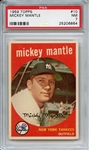 1959 Topps 10 Mickey Mantle PSA NM 7