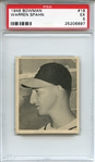 1948 Bowman 18 Warren Spahn RC PSA EX 5