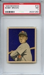 1949 Bowman 19 Bobby Brown PSA NM 7