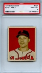 1949 Bowman 104 Ed Stanky PSA NM-MT 8