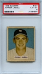 1949 Bowman 197 Johnny Lindell PSA EX-MT 6