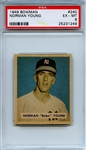 1949 Bowman 240 Norman Young PSA EX-MT 6