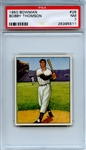 1950 Bowman 28 Bobby Thomson PSA NM 7