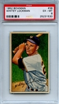 1952 Bowman 38 Whitey Lockman PSA EX-MT 6