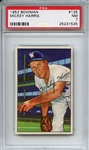 1952 Bowman 135 Mickey Harris PSA NM 7