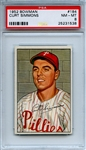 1952 Bowman 184 Curt Simmons PSA NM-MT 8