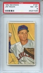 1952 Bowman 187 Jim Hegan PSA NM-MT 8