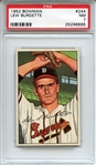 1952 Bowman 244 Lew Burdette PSA NM 7