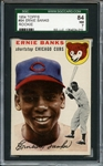 1954 Topps 94 Ernie Banks RC SGC NM 84 / 7