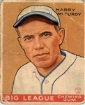 1933 Goudey 170 Harry McCurdy RC POOR #D394300
