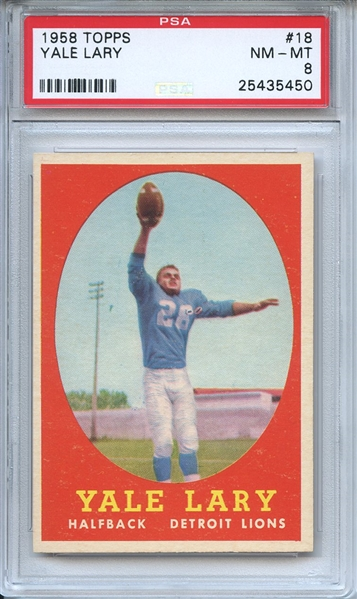 1958 Topps 18 Yale Lary PSA NM-MT 8